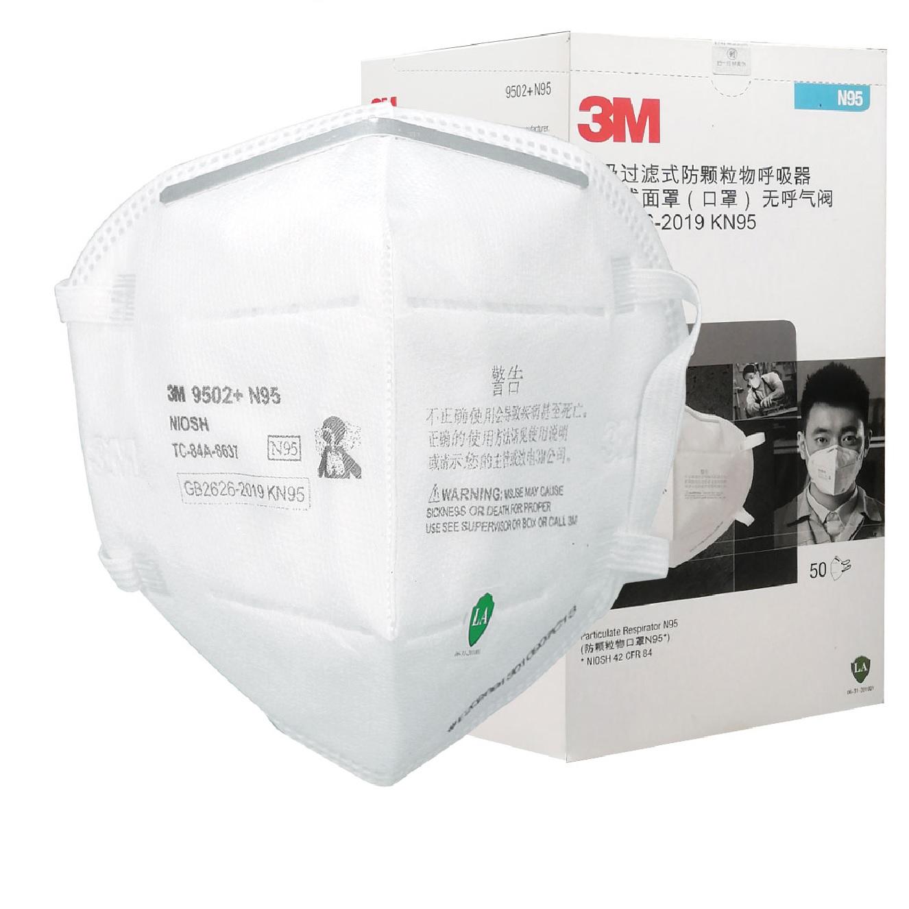 3M 9502+ N95 Particulate Respirator 50PC/Box