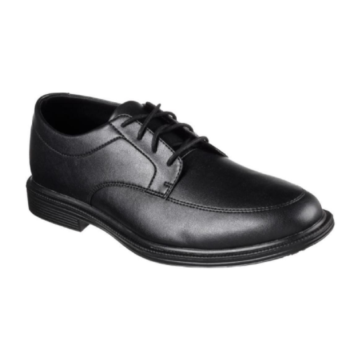 Skechers 77103BLK Maysville WALK Executive Shoes (NON-TOE CAP)
