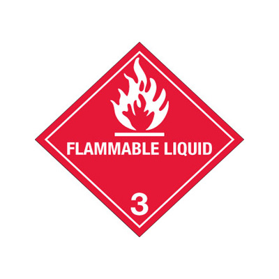 """Hazardous Labels Hazard Class 3 """"Flammable Liquid"""" Printed Shipping Labels For Jerry Can & Truck Labels"""