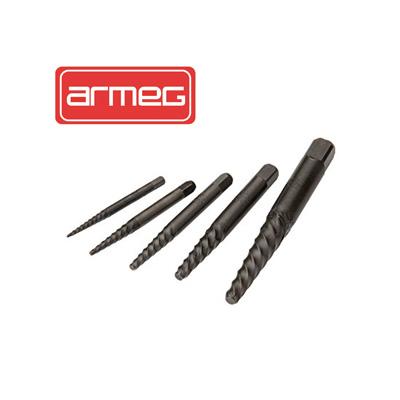 ARMEG Metal HSS Screw Extractors Set Size 1-5 Set A