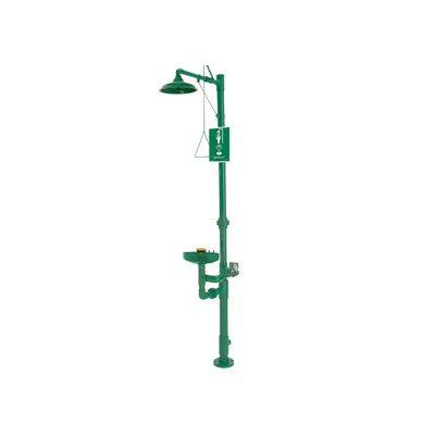 Haws 8336 AXION® MSR Corrosion Resistant Shower and Eye/Face Wash - PVC