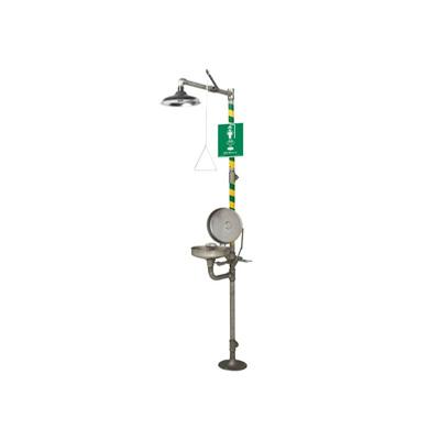Haws 8330 Axion MSR Stainless Steel Combination Eyewash / Shower