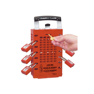 Masterlock No. 503RED Latch Tight™ Red Group Lock Box, Wall-Mount or Portable Key Box