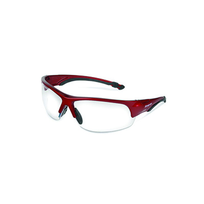 SnapOn USA GLASS50R, Glasses, Safety, Red Frame/Clear Lens
