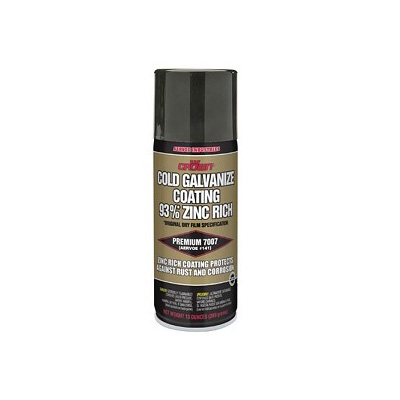 Crown 7007, Cold Galvanized Zinc Coating Spray, 93% Rich, 13 OZ