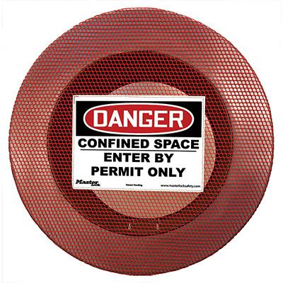 Masterlock No. S201CS Elastic, Ventilated Confined Space Cover