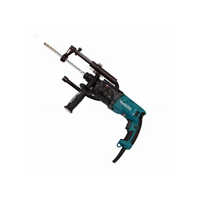 Makita HR2470X5 PLUS 193472-7, Rotary Combination Hammer Drill With Dust Extractor Attachment & Front Cuffs