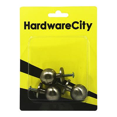 HardwareCity Stainless Steel Round Drawer Handle, 4PC/Pack