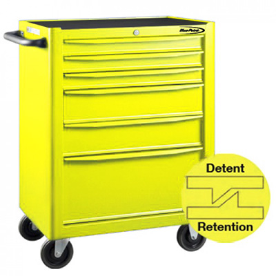 BluePoint KRB13006YEL, 6 Drawers Roller Cabinet, Yellow Gloss