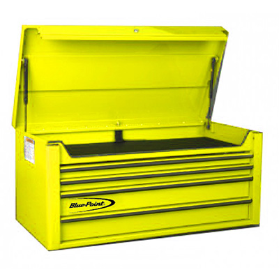 BluePoint KRB4042PES, 4 Drawers Classic Top Chest, Yellow Gloss