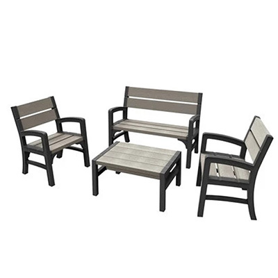 Keter WLF Outdoor Garden Bench Set