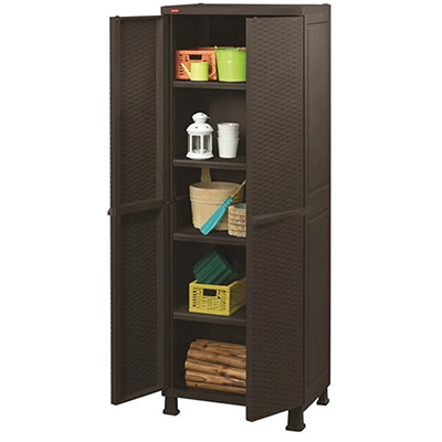Keter Rattan Utility Cabinet With Legs