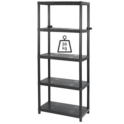 "Keter Sigma 15"" 5 Tier Open Shelf Black"