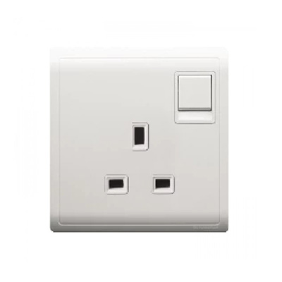 Schneider Piano White 1 X 13A Switched Socket