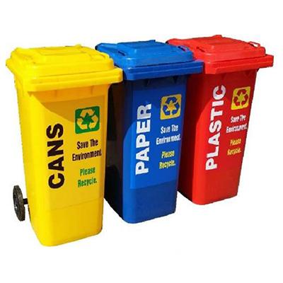 OTTO MGB 120L, 3 X 120L (Red, Yellow & Blue) Recycling Bin Set