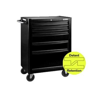 BluePoint KRB13006BLK, 6 Drawers Roller Cabinet, Black