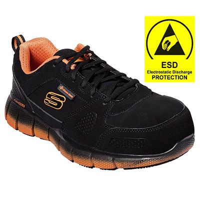 Skechers Work 77172 BKOR Telfin Composite Toe Safety Shoes