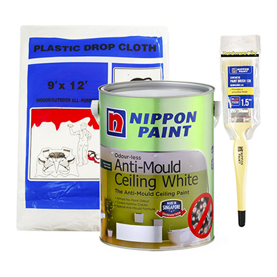 Nippon Paint Odour-less Anti-Mould Ceiling White 1 Litre Package