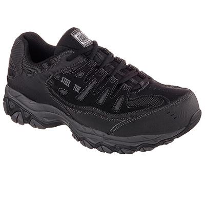 Skechers Work 77161 BLK CANKTON - EBBITT Steel Toe Safety Shoe