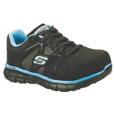 Skechers Work Women 76553EW BKBL Synergy Sandlot Steel Toe Safety Shoe