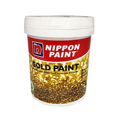 Nippon Paint Water-Based Gold Paint 1KG (Interior & Exterior)