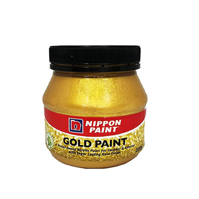 Nippon Paint Water-Based Gold Paint 250g (Interior & Exterior)