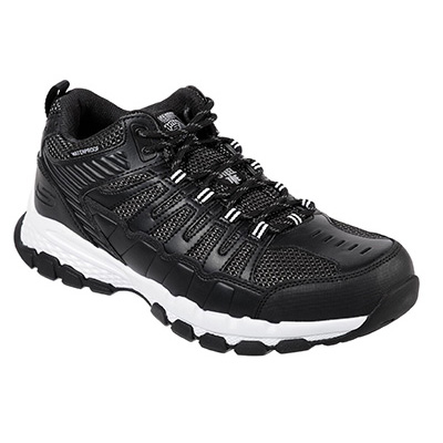 Skechers Work 77177BKW Queznell Steel Toe Safety Shoes