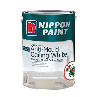 Nippon Paint Odour-less Anti-Mould Ceiling White 5L