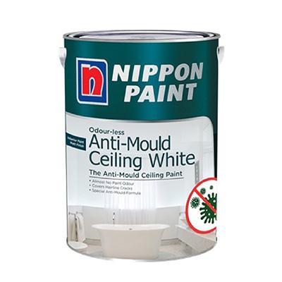 Nippon Paint Odour-less Anti-Mould Ceiling White 1L