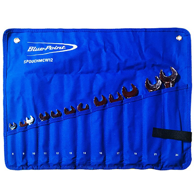 BluePoint SPOUCHMCW12 12PC Combination Wrench Set In Roll Up Pouch