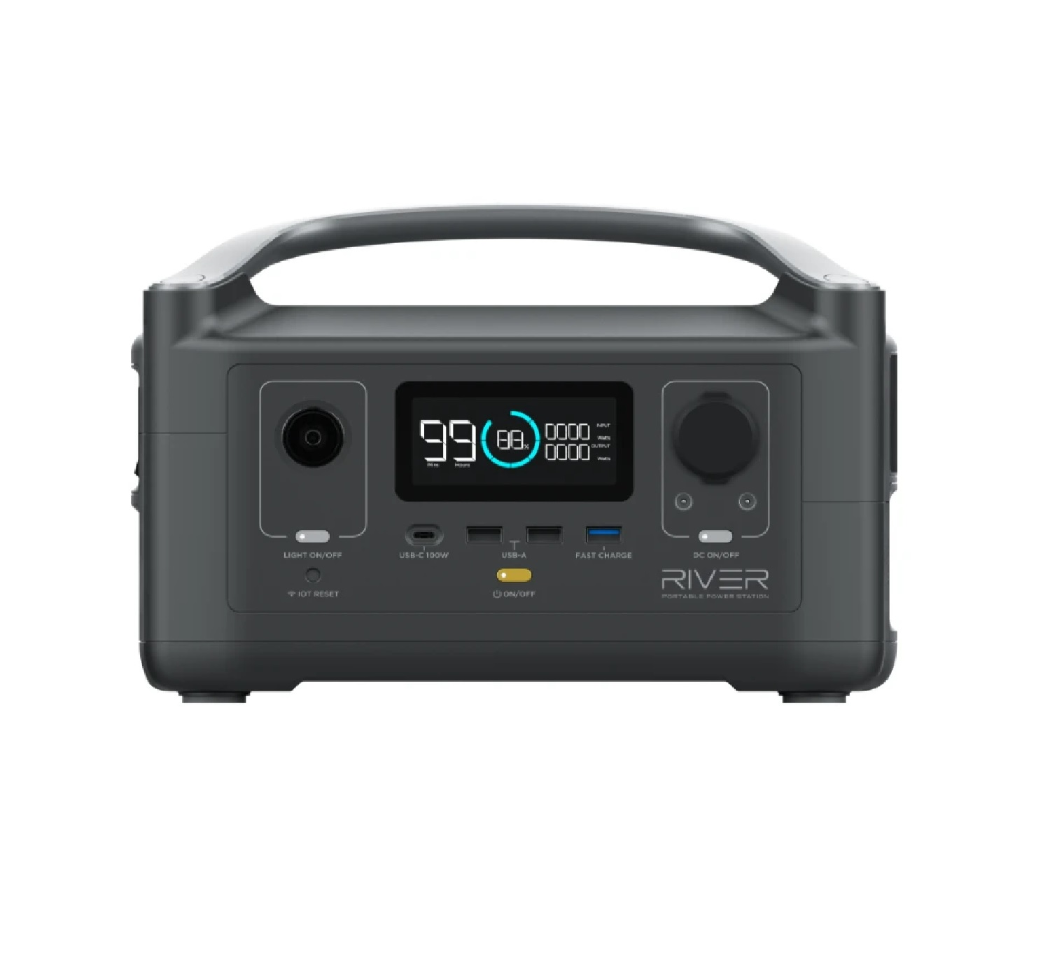 Ecoflow RIVER 600 Portable Power Station (Perfect Generator Up To 1800W)