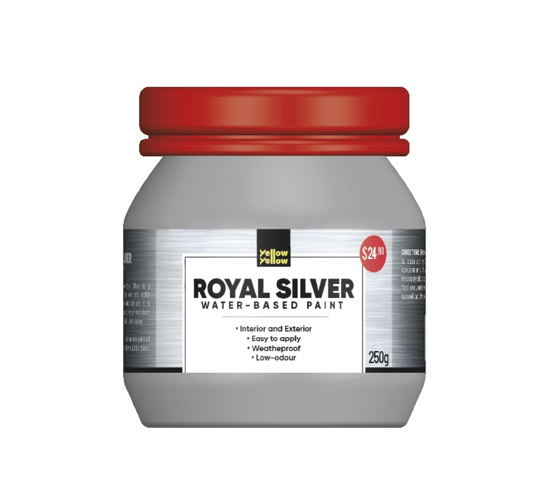 Yellowyellow Royal Silver Water-based Low Odour Paint 250g