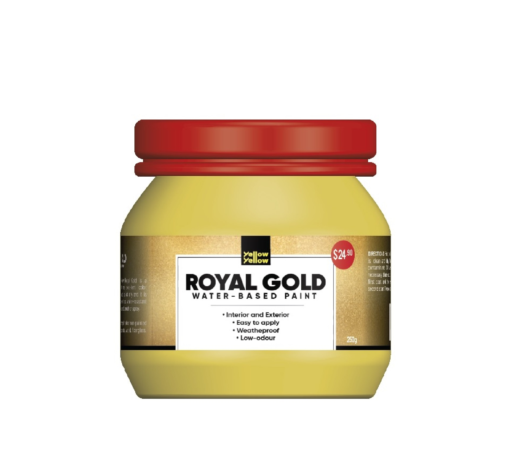 Yellowyellow HC-102 Royal Gold Water-based Low Odour Paint 250g