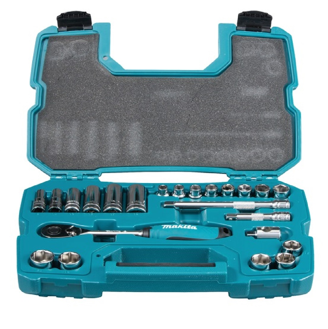Makita 3/8 DR 23PC Ratchet And Socket Set 8-20MM