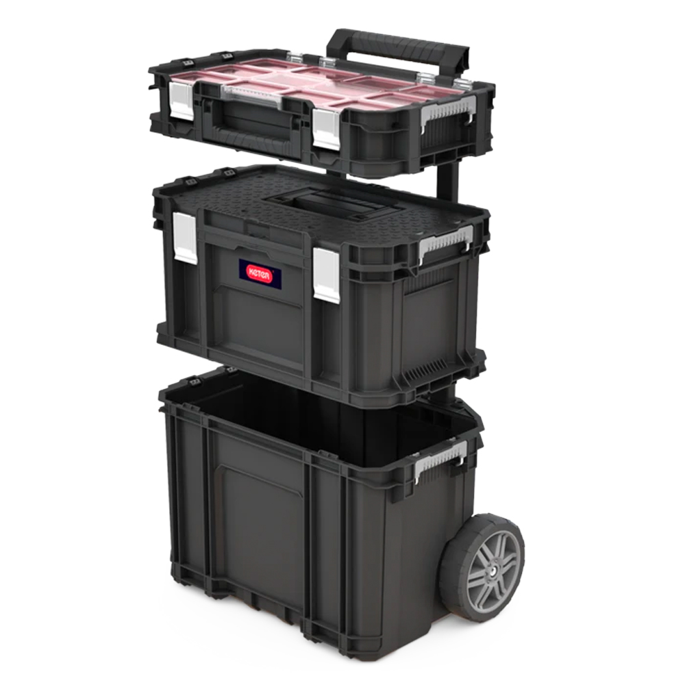 Keter Connect Rolling Tool Storage System Black